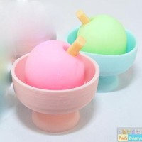 Dream: Pair of Ice Cream in Pink Blue Cups Eraser Iwako Erasers