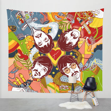 Sgt. Pepper's Lonely Hearts Club Band Wall Tapestry by Julia Minamata