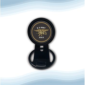 The US Navy Seals Black Universal Wireless Charger with Bult in Stand