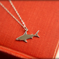 Shark Necklace in Sterling Silver