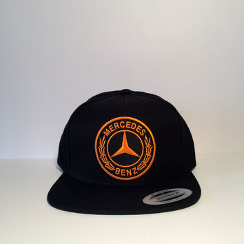 Mercedes-Benz logo black custom snapback hat