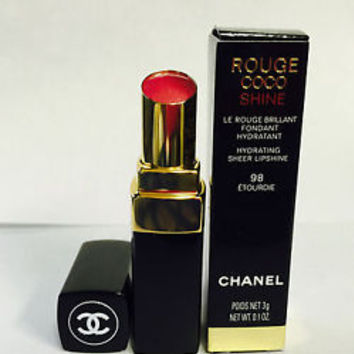 Chanel Rouge Coco Shine Hydrating Sheer Lipshine in 98 Etourdie 0.1 oz BOXED