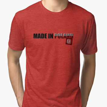 'Made in Poland' Tri-blend T-Shirt by cool-shirts