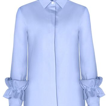 RUFFLED SLEEVE CUFF SHIRT
