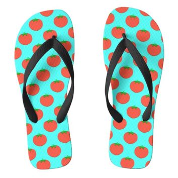 Cute Tomato Pattern Design Flip Flops | Zazzle.co.uk