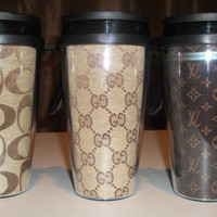 Inspired Coffee Mug Travel Mug Tumbler--U CHOOSE PRINT