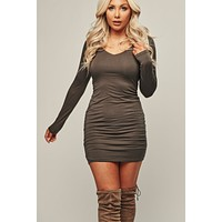Look Back Bodycon (Military Olive)
