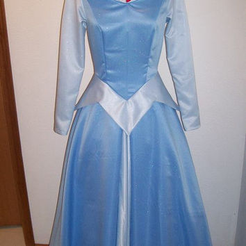 Princess Aurora Sleeping Beauty Blue Dress ADULT Custom