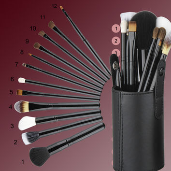 12 Pcs Cosmetic Brush Set & Case