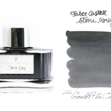 Fountain Pen Ink | Faber-Castell Stone Grey - 75ml | GouletPens.com