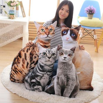 2018 New Cats Shape Pillow Home Bed Snug Siesta Pillow Cushion Innovative Airplane Pillows Travel Chin Head Support 50/70 cm LST