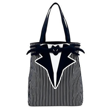 "Disney's / Tim Burton's the Nightmare Before Christmas "" Jack Skellington "" Tuxedo Tote BAG Purse"