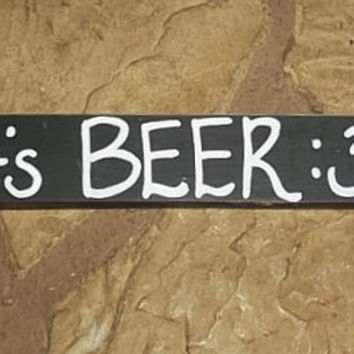 It's Beer Thirty Sign, Rustic Bar Decor, Home Decor, Beer Lovers Gift Idea, Gift for Him, Man Cave Sign, Primitive Sign, Country Home Decor