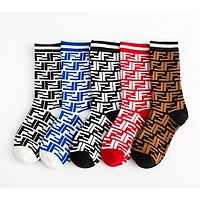 FENDI Classic Lurex Interlocking F Socks