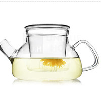 Handmade Gift Mouth Blown Clear Glass Infuser Teapot Kettle with Lid 600ml 20oz 1ea/pack - Tornos Unihom