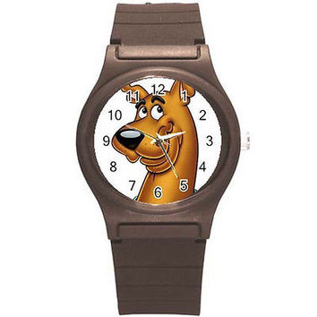 Scooby Doo on Brown Plastic Watch...Great for Kids