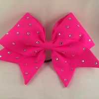 Cheer Bow - Hand Sewn Hot Pink