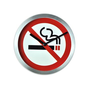 No Smoking Sign Wall Clock