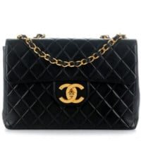 Chanel Black JUMBO flap bag.  Excellent condition!