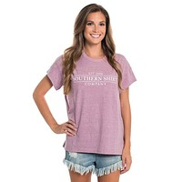 Comfy Crewneck SS in Mulberry by The Southern Shirt Co.. - FINAL SALE