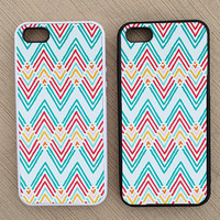 Cute Abstract Chevron iPhone Case, iPhone 5 Case, iPhone 4S Case, iPhone 4 Case - SKU: 158