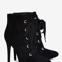 Nasty Gal Vargas Lace-Up Bootie