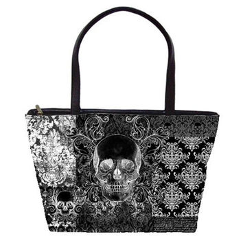Quilted look Skull Shoulder Bag