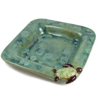 Handmade Ceramic Sea Turtle Dish  Coastal Decor - Nature Decor