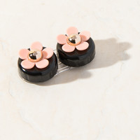 Black Nude Daisy Contact Lens Case