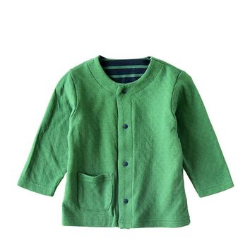 Trendy Poke Kids Coat Thin Cotton Girls Cardigan Kids Clothes Knitwear Coat For Kids Casual O-Neck Baby Boy Clothing Top Children Coats AT_94_13
