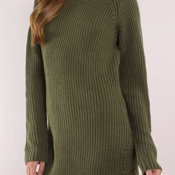 Stone Cold Dolphin Hem Sweater Dress