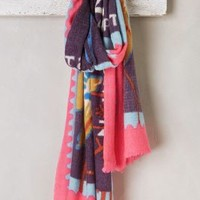 Romanian Stamp Scarf by Epice Pink One Size Scarves