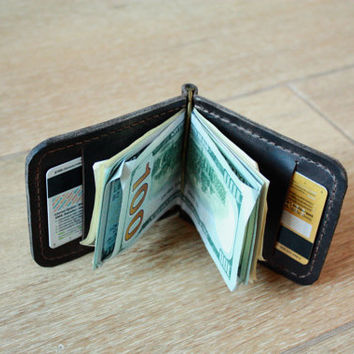 money clip, leather money clip, brown money clip, money clip wallet, custom money clip, money clips, handmade money clip, mens money clip