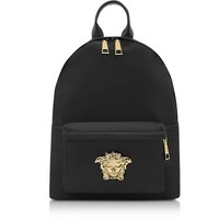 Versace Black Nylon Palazzo Backpack