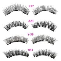 1 Set Handmade Makeup Full Coverage Triple Magnetic False Eyelashes Soft Cross Long Magnet Eye Lashes Make up Extension Tools