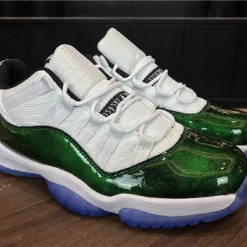 Best Deal Online Nike Air Jordan Retro 11 Low Easter Men Sneakers Emerald White/Emerald Rise-Black Sports Shoes