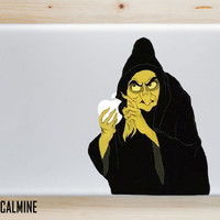 ORIGINAL EVIL QUEEN Designer MacBook Decal Removable Vinyl Sticker Disney Evil Queen Snow White Old Evil Queen Disney MacBook Decals