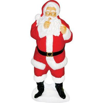 Whispering Santa Claus , Lighted Plastic Blow Mold, Light Up Outdoor Yard Christmas Decoration