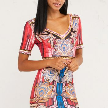 Printed Dress For Classy Night Looks