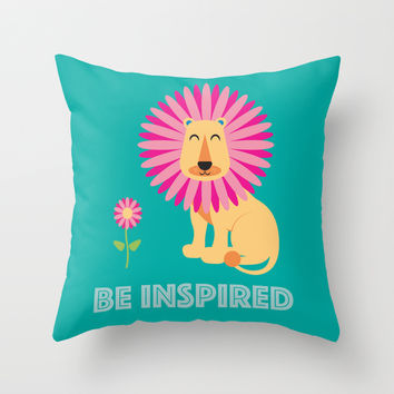 Be Inspired Throw Pillow by Aubergine & Purple