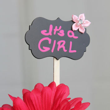 It's a Girl Topper (set of 4)