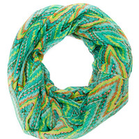Ivy Infinity Scarf - Green - One