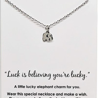 Laila Good Luck Elephant Necklace