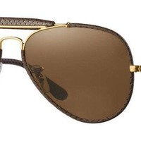Ray Ban Outdoorsman RB3422Q 9041 58 Dark Brown Frame / Brown Classic B-15 Lenses