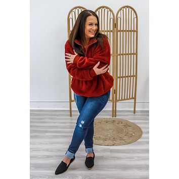 Close & Cozy Sweatshirt - Burgundy