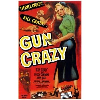 Gun Crazy Movie poster Metal Sign Wall Art 8in x 12in