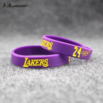 Meetcute 1Pc Popular Kobe Bryant Silicone Wristband Basketball Star Bracelet Rubber Hand Band Energy Bracelet Sports Wrist Strap