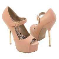 Qupid Women's TREASURE02 High Heel Platform Stiletto High Heel Pump Shoes