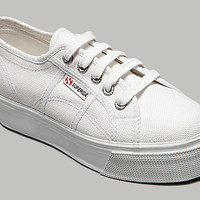 Superga 2790 ACOTW Linea Up and Down White Platform Sneakers