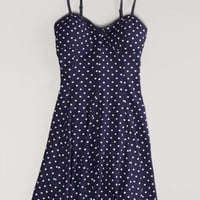 AEO Women's Polka Dot Skater Corset Dress